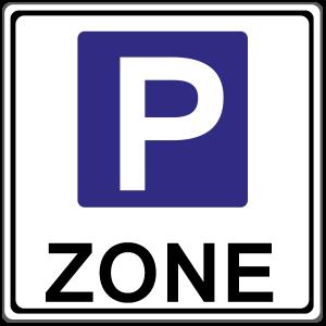 In dieser Zone ist Parken erlaubt.