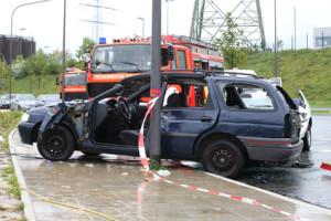 Fahrlässige Körperverletzung bei einem Verkehrsunfall kommt in Deutschland häufig vor.